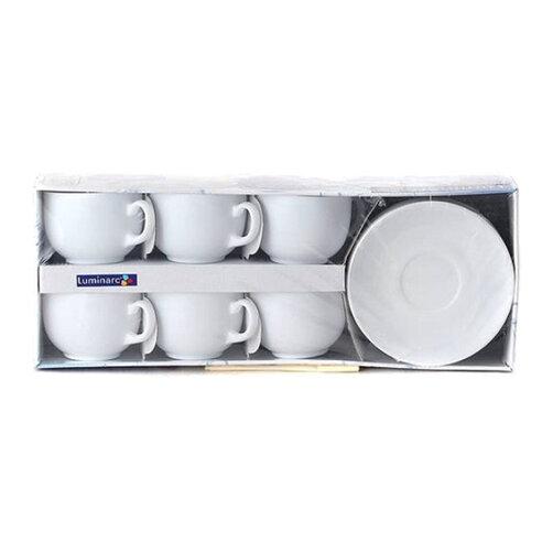 Bộ tách trà sứ thủy tinh Luminarc Diwali D8222 220ml