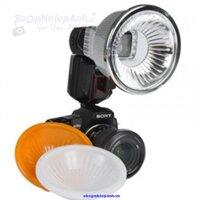 Bộ tản sáng 3 màu cho đèn flash cóc JYC Pop Up Flash Diffuser