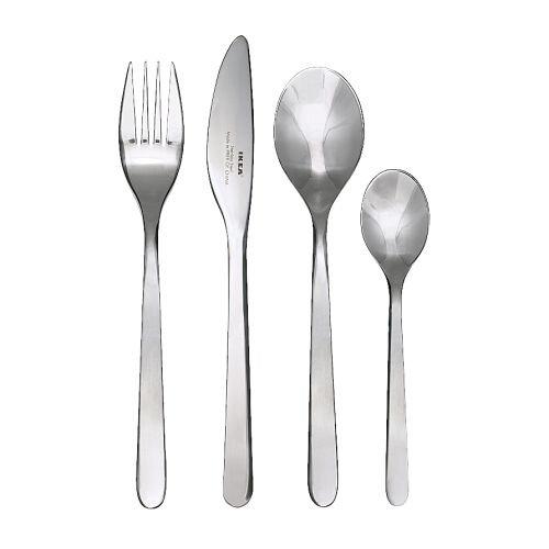 Bộ thìa, dĩa, dao IKea 24 cái
