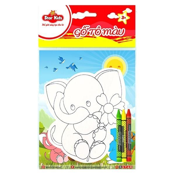 Bộ tô màu gỗ Star Kids con voi K202/1