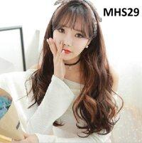 Bộ tóc xoăn nâu đỏ MHS29