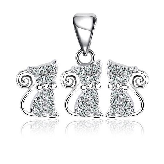 Bộ trang sức bạc The Cat