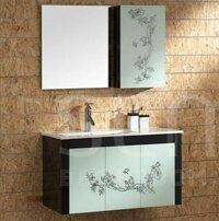 Bộ tủ chậu vòi gương Senli F900H (tủ gỗ)