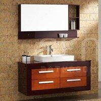 Bộ tủ chậu vòi gương Senli F1300 (tủ gỗ)