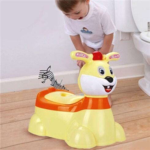 Bô vệ sinh cho bé hình thỏ biết phát nhạc Song Long Plastic