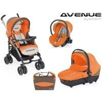 Bộ xe đẩy Brevi Avenue 4 món màu cam BRE748-049