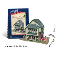 Bộ xếp hình 3D Cửa hàng Sandwich CubicFun W3106H
