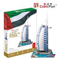 Bộ xếp hình 3D khách sạn thuyền buồm Burjal Arab Cubic Fun MC101H