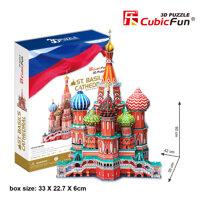 Bộ xếp hình 3D quảng trường đỏ St.Basil Cubic Fun MC093h