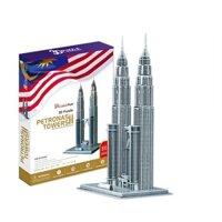 Bộ xếp hình 3D tháp đôi Malaysia Cubic Fun MC084H