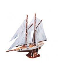 Bộ xếp hình 3D Thuyền buồm Two Masted Schooner Cubic Fun C119H