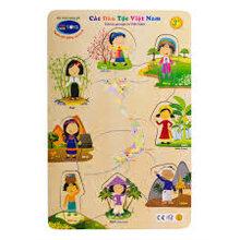Bộ xếp hình các dân tộc Việt Nam Winwintoys 66332