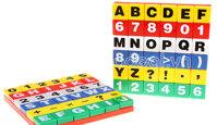 Bộ xếp hình chữ cái học toán cho bé 72 miếng