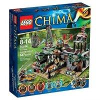 Bộ xếp hình Đấm lầy cá sấu Lego Chima 70014
