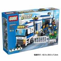 Bộ xếp hình Gudi 9316 Trạm cảnh sát lưu động - 407 chi tiết