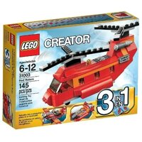 Bộ xếp hình Máy bay trực thăng đỏ Red Rotors Lego Creator 31003