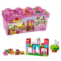 Bộ xếp hình Thùng gạch Trang trại màu hồng Lego Duplo 10571