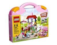 Bộ xếp hình Vali lắp ráp màu hồng cho bé gái Pink Suitcase V29 Lego 10660