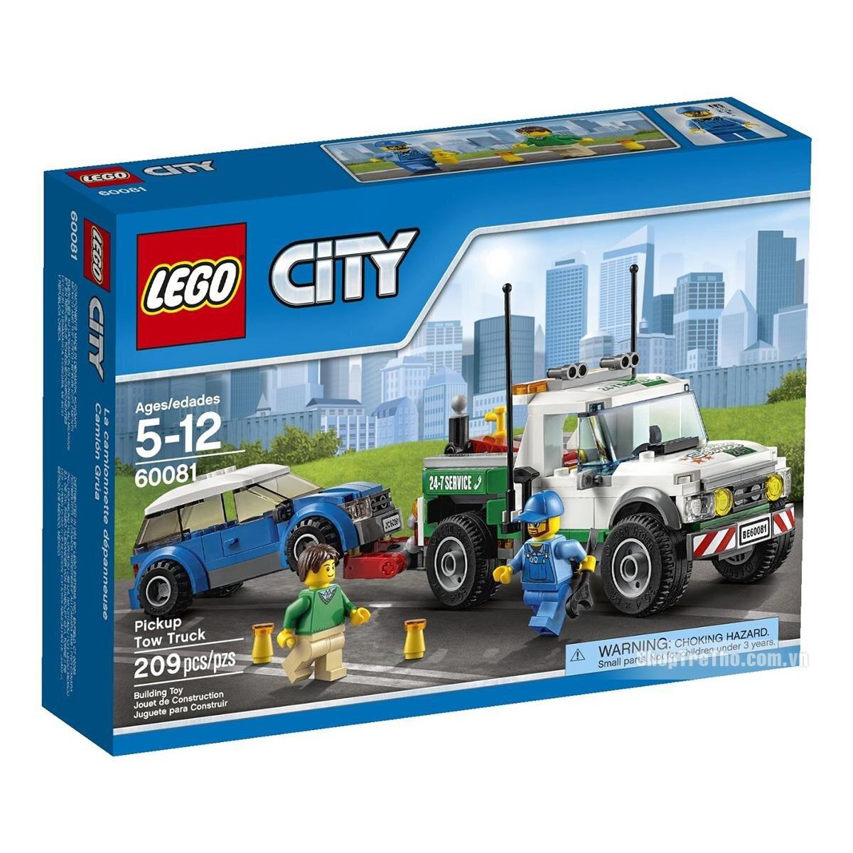 Bộ xếp hình Xe bán tải cứu hộ Lego City 60081