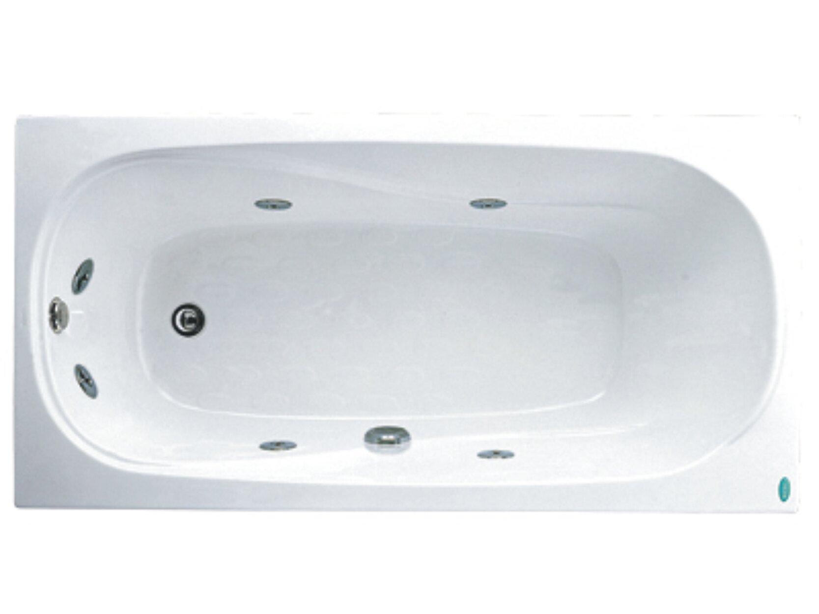 Bồn tắm nằm Massage Caesar MT0170L(R) - có chân có yếm