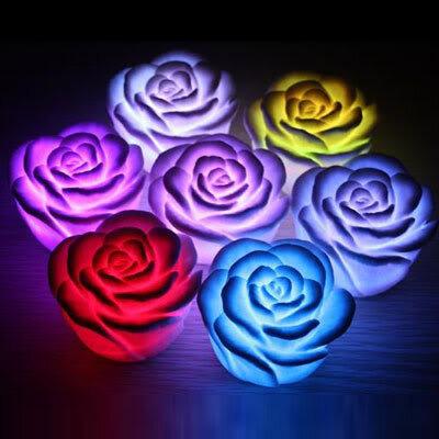 Bông hoa hồng phát sáng đổi màu