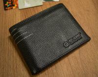 Bóp nam viền chỉ màu đen HH2129- Huy Hoàng