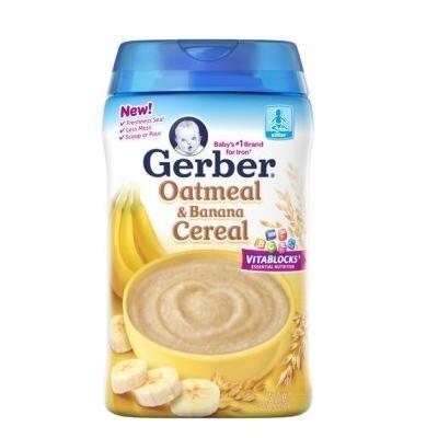 Bột ăn dặm Gerber Oatmeal Cereal yến mạch & chuối - 227g