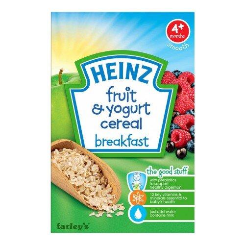 Bột ăn dặm Heinz 4+ vị ngũ cốc sữa chua trái cây