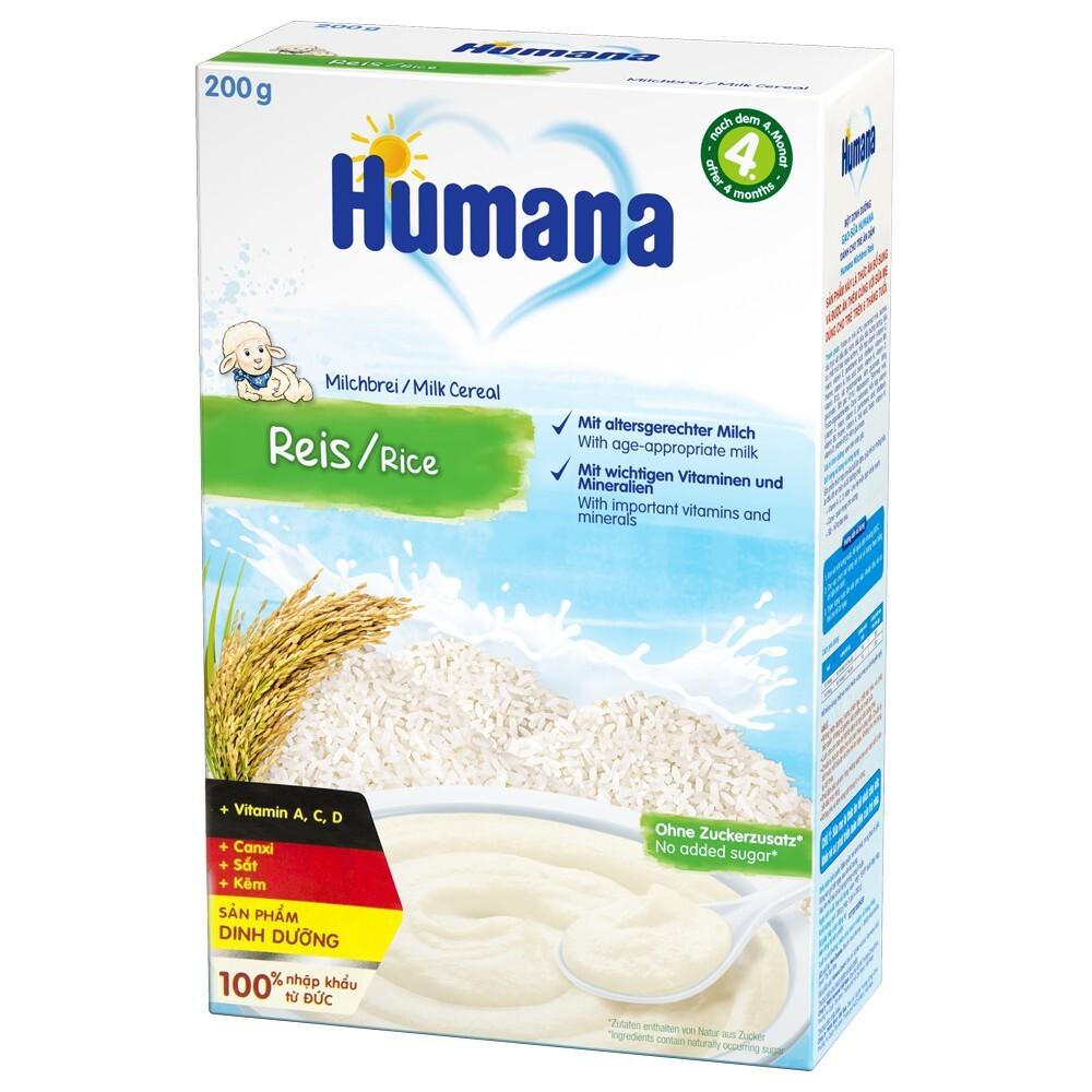 Bột ăn dặm Humana vị gạo 4M+