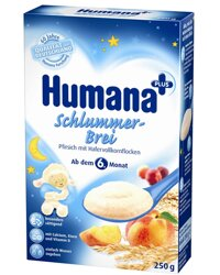 Bột ăn dặm Humana yến mạch đào - hộp 250g