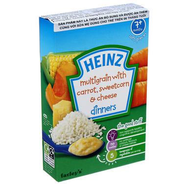 Bột ăn dặm ngũ cốc, cà rốt, phô mai, bắp ngọt nghiền Heinz – 100g