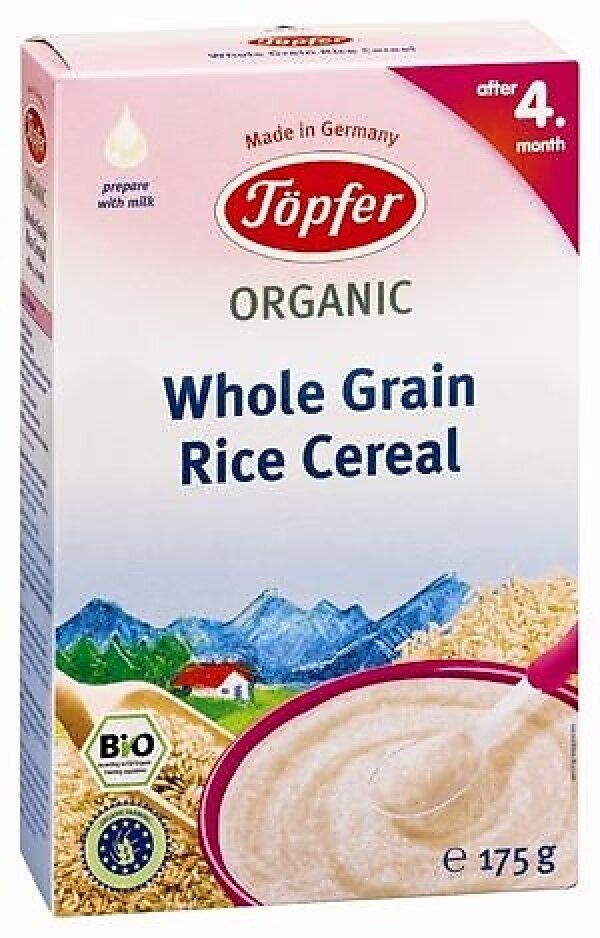 Bột ăn dặm Topfer Organic Ngũ cốc gạo sữa (200g)