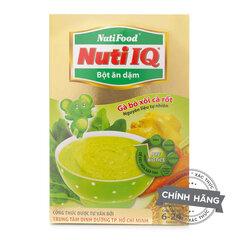 Bột ăn dặm vị gà, bó xôi, cà rốt NutiFood Nuti IQ - hộp 200g (dành cho trẻ từ 6-24 tháng tuổi)