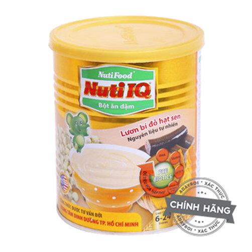Bột ăn dặm vị lươn, bí đỏ, hạt sen NutiFood Nuti IQ - hộp 200g (dành cho trẻ từ 6-24 tháng tuổi)