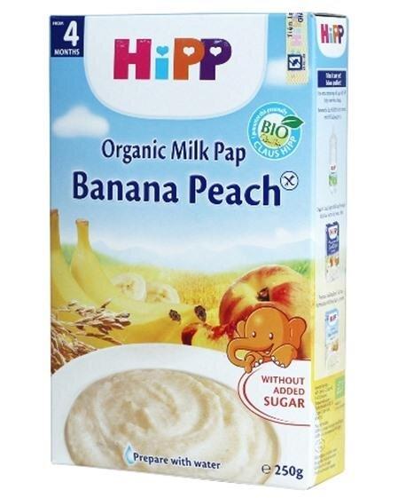 Bột dinh dưỡng Hipp sữa chuối, đào 250g