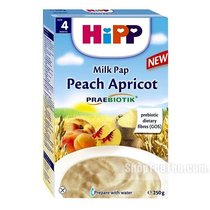 Bột dinh dưỡng HiPP sữa, đào, mơ tây 250g