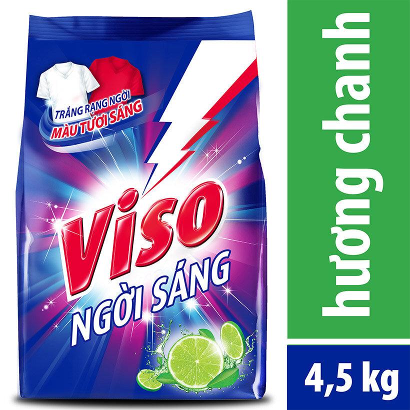 Bột giặt Viso trắng sáng Hương chanh 4.5kg