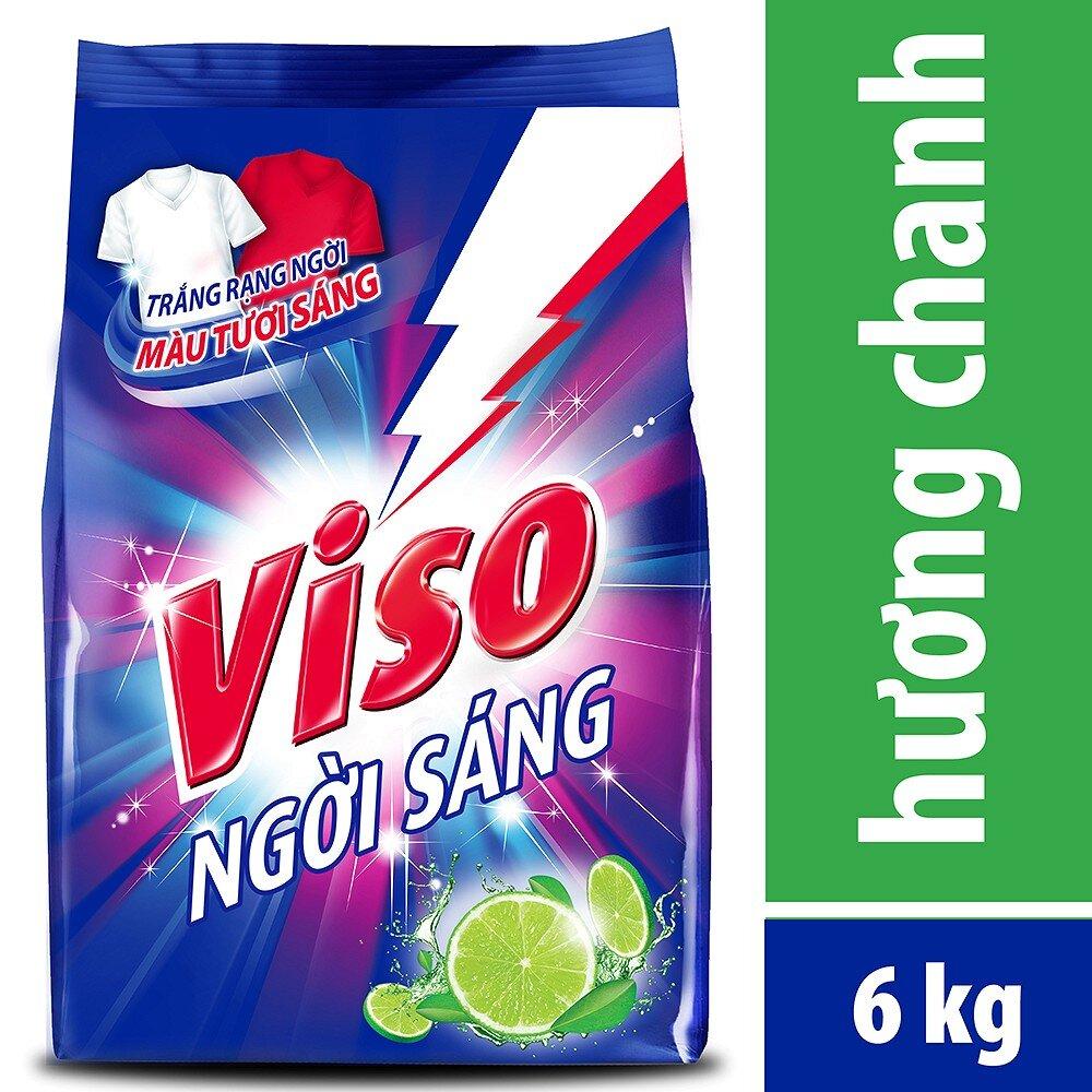Bột Giặt Viso Trắng Sáng Hương Chanh 6kg