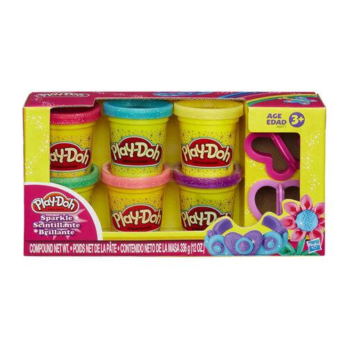 Bột nặn 6 màu lấp lánh Play-Doh A5417
