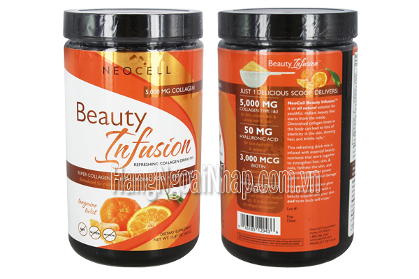 Bột Neocell Collagen Beauty Infusion 6000mg hương cam