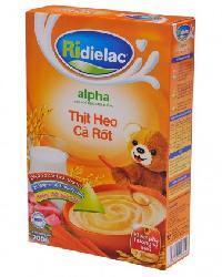 Bột ngũ cốc heo cà rốt Ridielac Alpha – 200g
