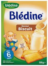 Bột pha sữa Bledina Biscuit 6m 500g
