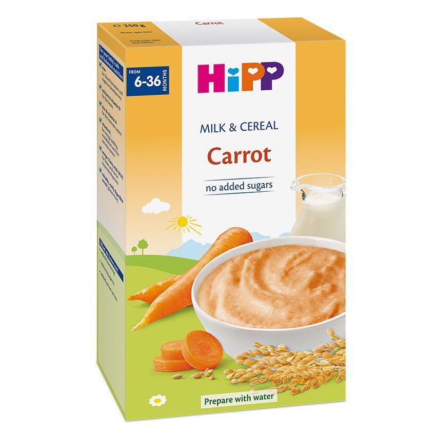 Bột sữa và ngũ cốc rau củ DD HiPP – Cà rốt 250g