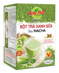 Bột trà xanh sữa hiệu Macha Hùng Phát 17gx20gói