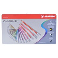 Bút bút chì màu Stabilo hộp sắt 12 màu - CLC1412M