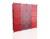 Tủ nhựa đa năng Bảo Thy 16 ngăn đỏ, vân trắng đỏ