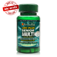 Viên uống cho người cao tuổi Puritan's Pride ABC Plus Senior Multi-Vitamin 60 viên