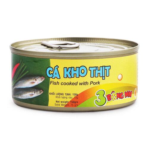 Cá kho thịt Vissan hộp 150g