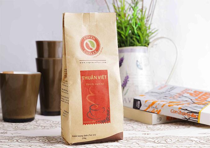 Cà phê rang xay Thuần Việt gói 250g