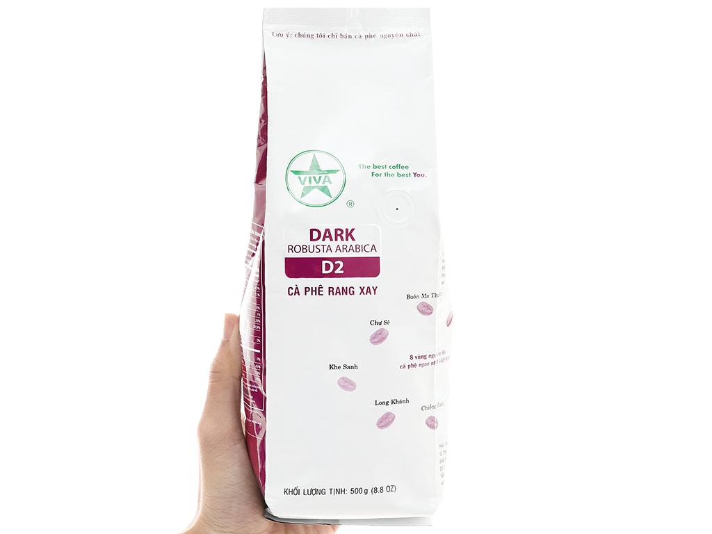 Cà phê rang xay Viva Robusta Arabica (D2) – 500g